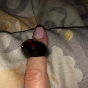 Baccarat Red and Black Crystal Pop Bubble Ring